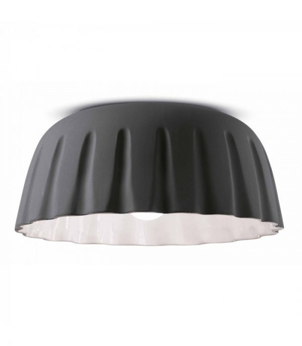 Ceiling Lamp Madame Gres C2572 Blackish Gray Ferroluce 1