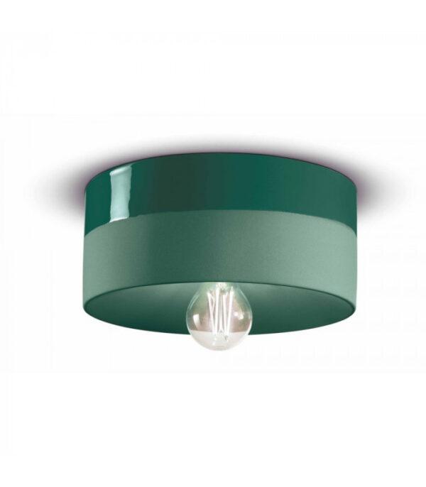Ceiling Lamp PI C1793 Bottle Green Ferroluce 1