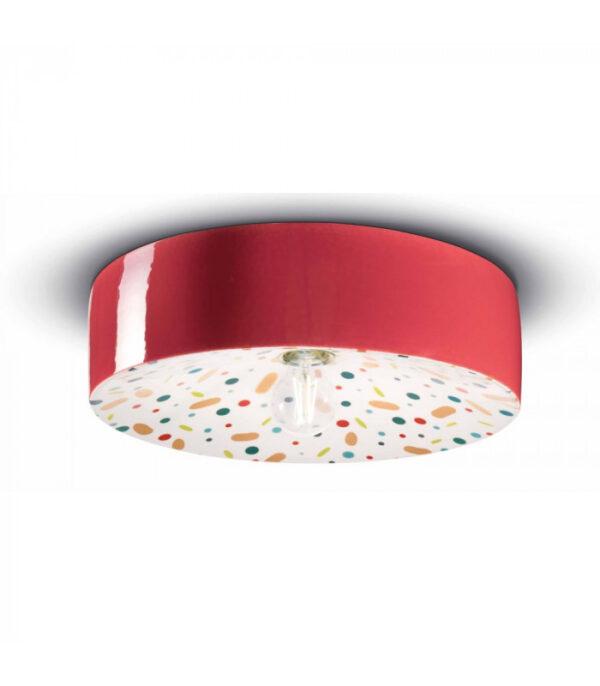 Candeeiro de teto PI C1794 vermelho | Multicolor Ferroluce 1