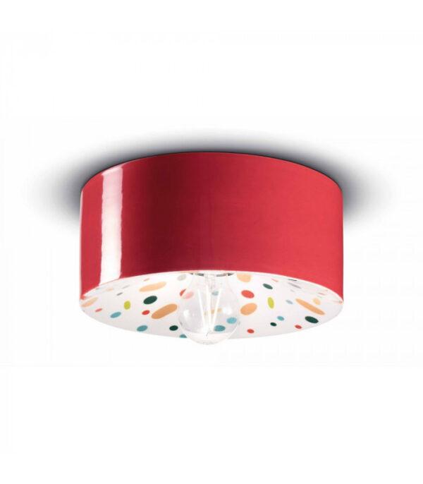 Plafonnier PI C1796 Rouge | Multicolore Ferroluce 1