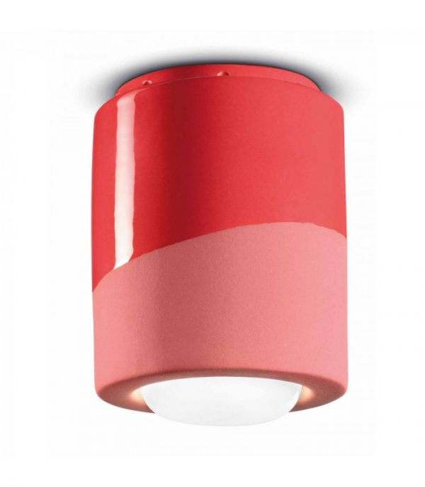 Ceiling Lamp PI C986 Coral Red Ferroluce 1