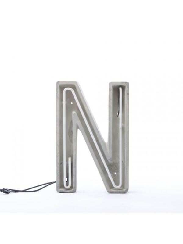 Alphacrete Table lanp - Lèt N blanch | Grey | Seletti BBMDS Cement