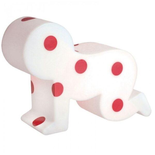 Lámpara de mesa Baby White | Tobogán rojo Roberto Semprini 1