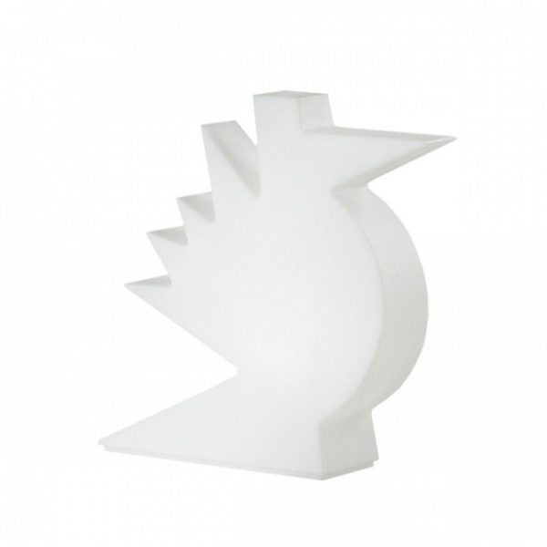 Here White Slide Table Lamp Alessandro Mendini 1