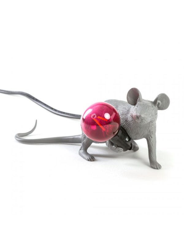 Lámpara de mesa Mouse Lie Down # 3 - Seletti Gray Lying Mouse Marcantonio Raimondi Malerba