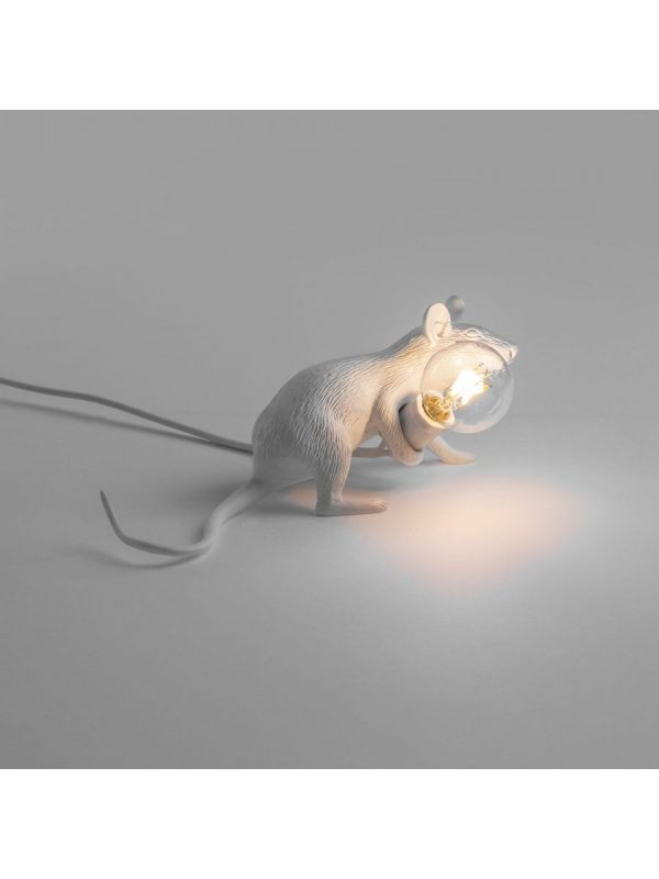 Lampe de table Mouse Lie Down # 3 blanche allongée Mickey Mouse Seletti Marcantonio Raimondi Malerba