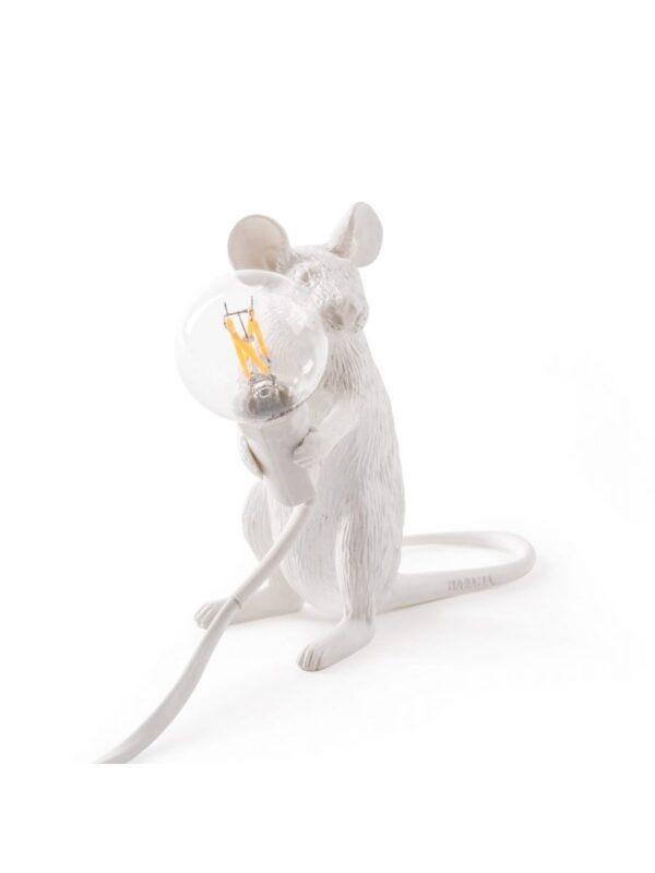 マウスシッティングテーブルランプ#2シーテッドミッキーマウスホワイトセレッティマルカントニオライモンディマレルバ