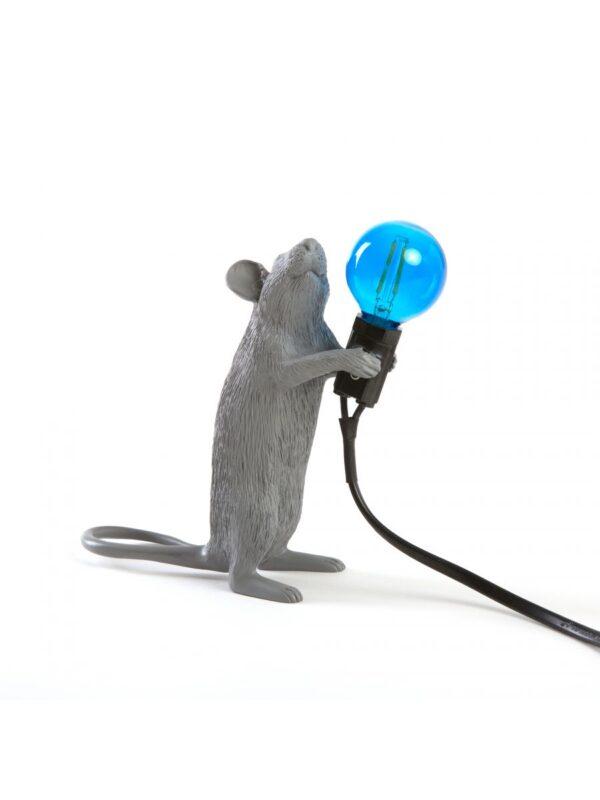 Mouse Standing # 1 Table Lamp - Gray Seletti Marcantonio Raimondi Malerba