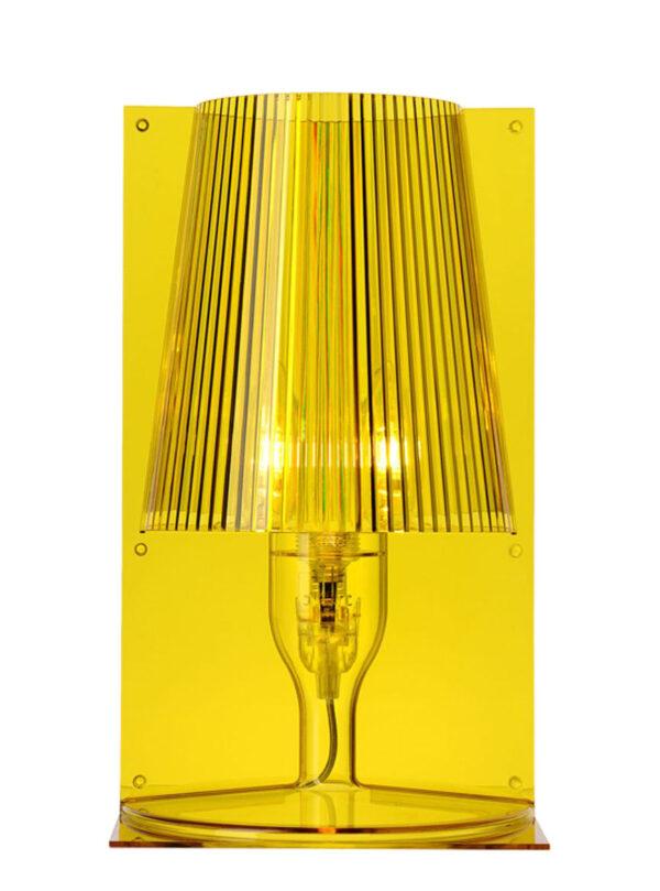 Nehmen Sie die gelbe Tischlampe Kartell Ferruccio Laviani 1