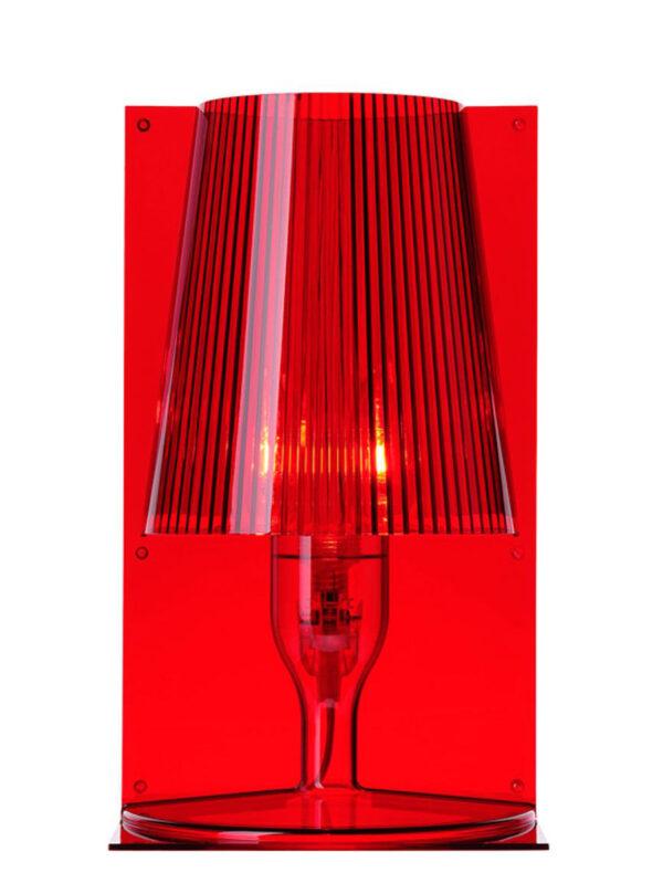 Πάρτε την κόκκινη επιτραπέζια λάμπα Kartell Ferruccio Laviani 1