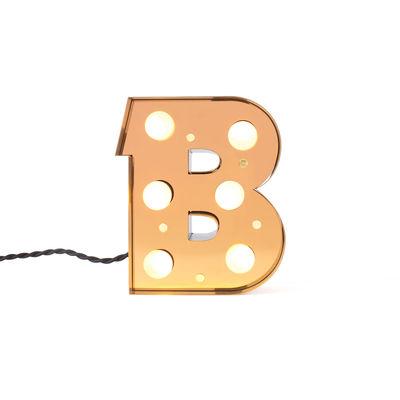 Table Lamp Caractère Applique - Letter B Brilliant Gold Seletti Selab | Studio Badini Creatim
