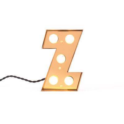 Lampada da Tavolo Applique Caractère - Lettera Z Oro Brillante Seletti Selab Studio Badini Creatim