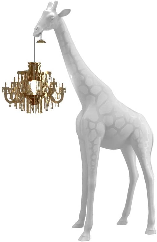 Giraffe in Love Stehleuchte XS Weiß Qeeboo Marcantonio Raimondi Malerba 1