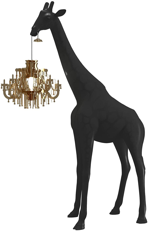 Giraffe in Love Stehleuchte XS Schwarz Qeeboo Marcantonio Raimondi Malerba 1