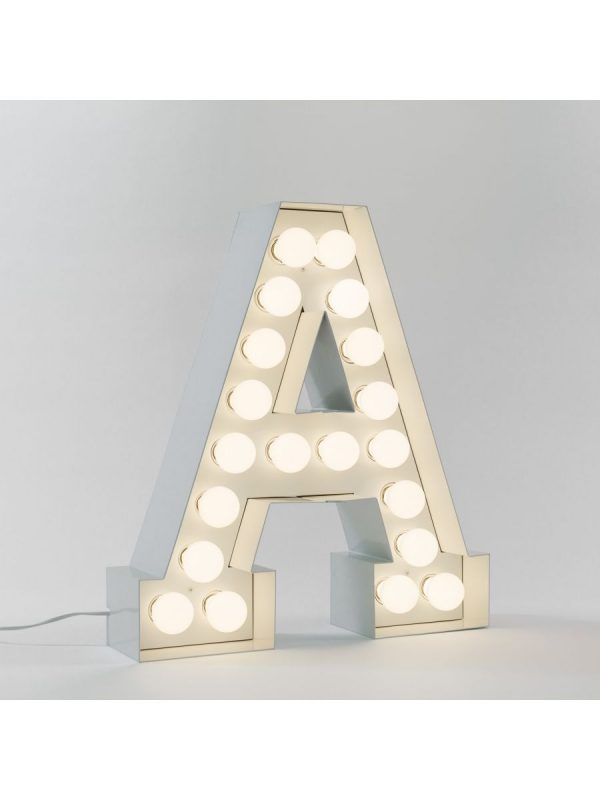 Lampadaire Vegaz - Lettre A - H 60 cm Blanc Seletti Selab