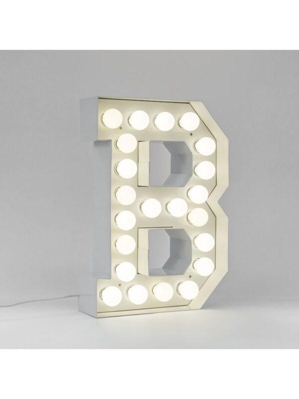 Lampadaire Vegaz - Lettre B - H 60 cm Blanc Seletti Selab