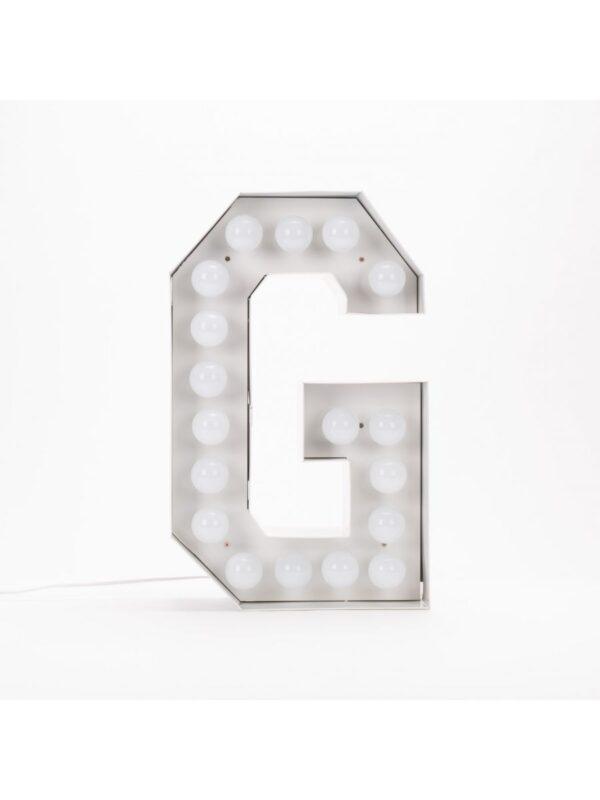 Lampada da Terra Vegaz - Lettera G - H 60 cm Bianco Seletti Selab