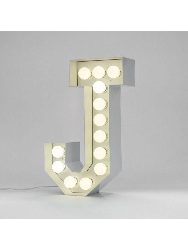 Lampada da Terra Vegaz - Lettera J - H 60 cm Bianco Seletti Selab