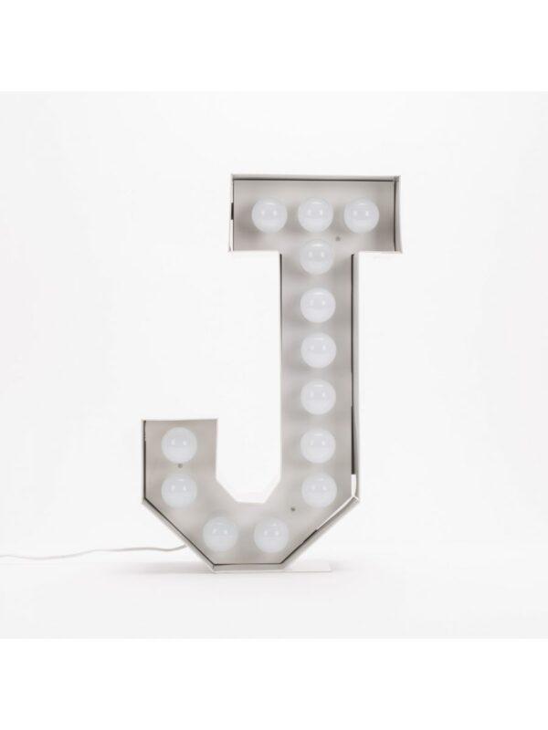 Vegazフロアランプ - 手紙J  -  H 60 cmホワイトSeletti Selab