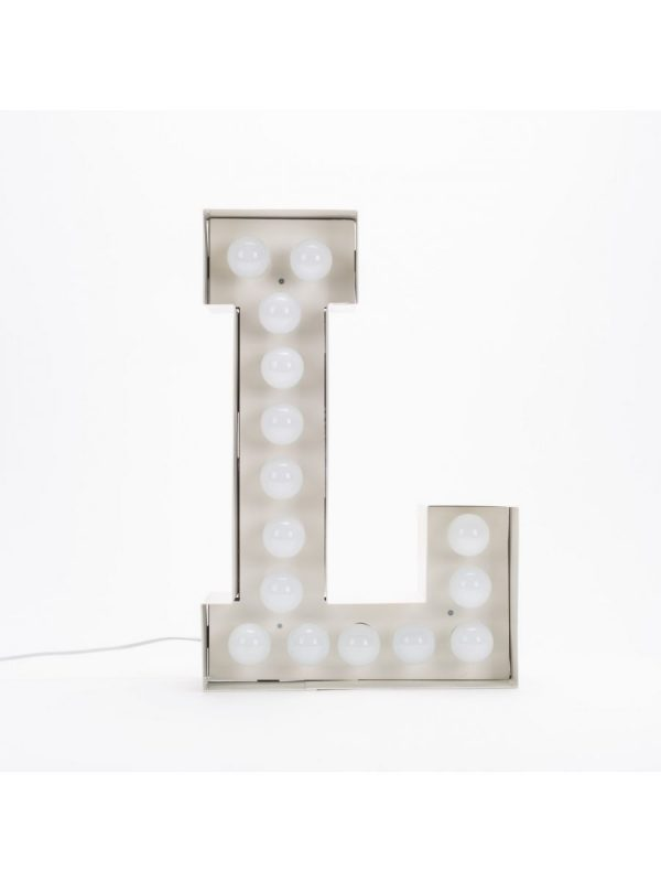 Lampadaire Vegaz - Lettre L - H 60 cm Blanc Seletti Selab