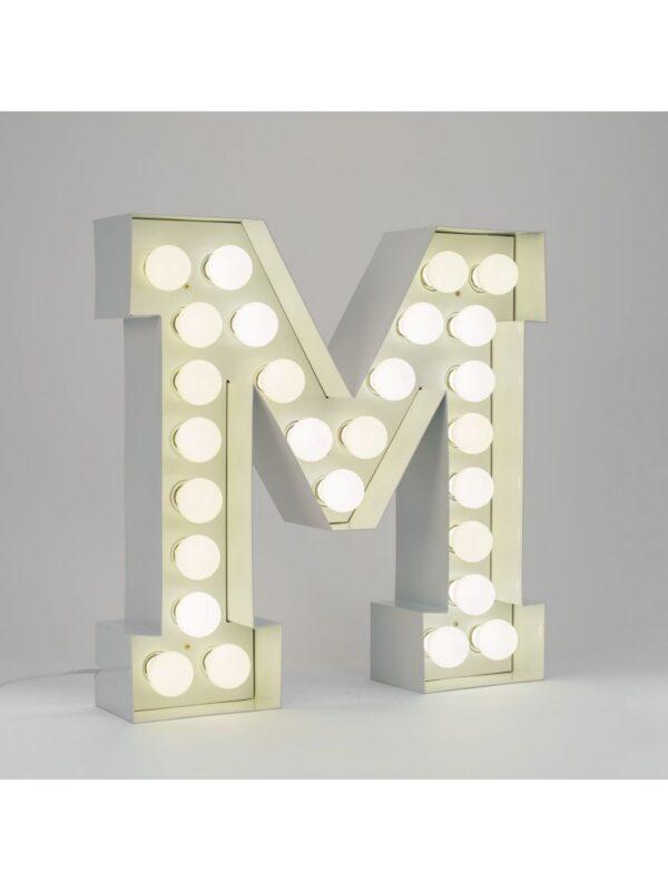 Lampadaire Vegaz - Lettre M - H 60 cm Blanc Seletti Selab