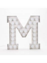 Lampada da Terra Vegaz - Lettera M - H 60 cm Bianco Seletti Selab