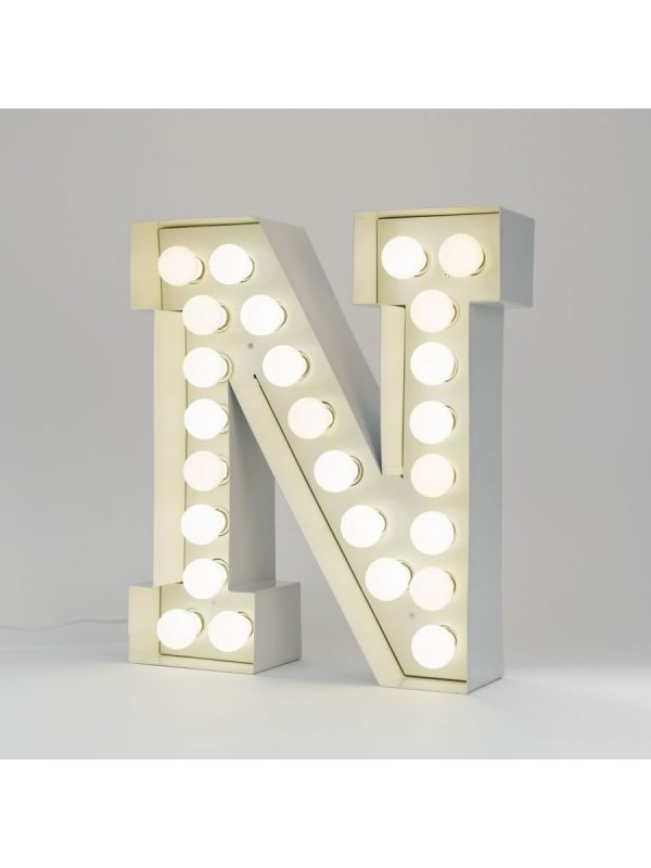 Λαμπτήρας δαπέδου Vegaz - Επιστολή N - H 60 cm Λευκό Seletti Selab