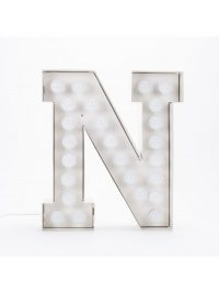 Lampada da Terra Vegaz - Lettera N - H 60 cm Bianco Seletti Selab