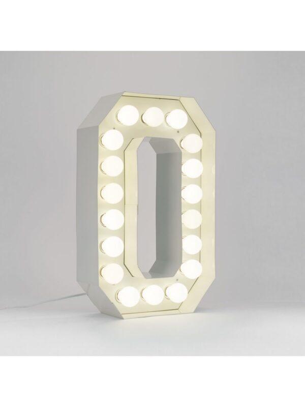 Lámpara de pie Vegaz - Letra O - H 60 cm Blanco Seletti Selab