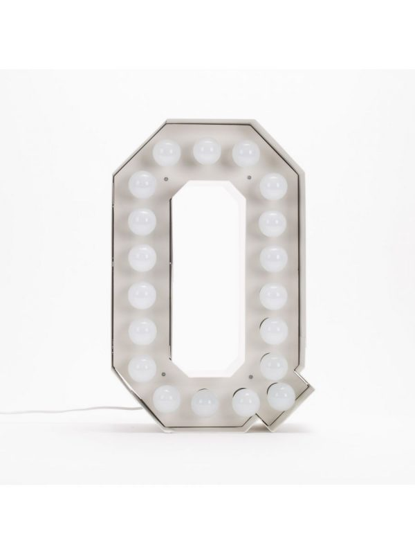 Vegazフロアランプ - 手紙Q  -  H 60 cmホワイトSeletti Selab