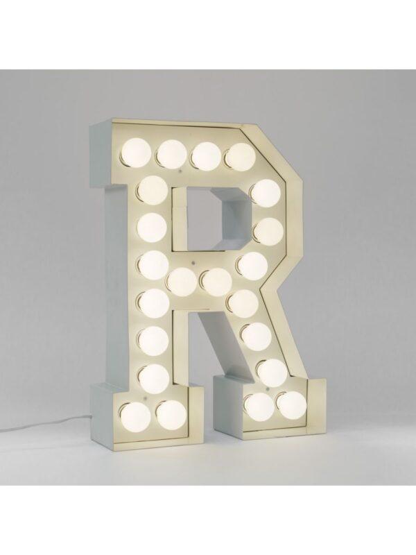 Vegazフロアランプ - 手紙R  -  H 60 cmホワイトSeletti Selab