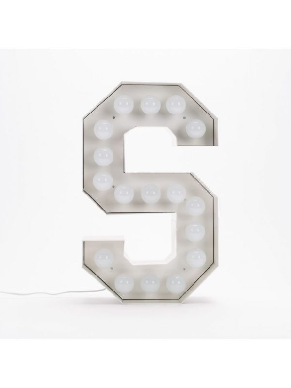 Vegazフロアランプ - 手紙S  -  H 60 cmホワイトSeletti Selab