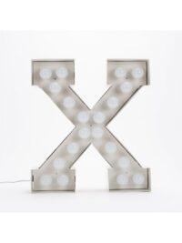 Vegaz Floor lanp - Lèt X - H 60 cm Blan Seletti Selab