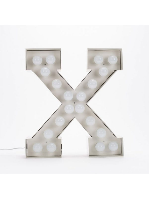 Vegazフロアランプ - 手紙X  -  H 60 cmホワイトSeletti Selab