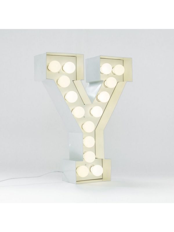 Vegaz Floor Lanp - Lèt Y - H 60 cm Seleri Blan Selab