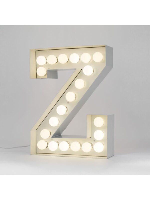Candeeiro de Chão Vegaz - Letra Z - H 60 cm Branco Seletti Selab