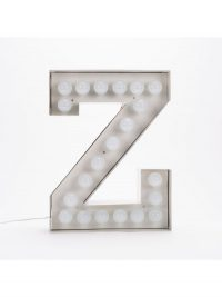 Lampada da Terra Vegaz - Lettera Z - H 60 cm Bianco Seletti Selab