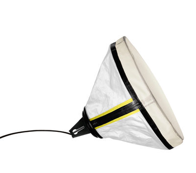 Lámpara de mesa Drumbox - Ø 45 cm Blanco | Diesel fluo amarillo con Foscarini Diesel equipo creativo 1