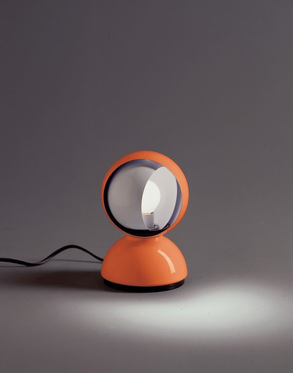 Lampe de table orange ECLISSE ARTEMIDE Vico Magistretti 2