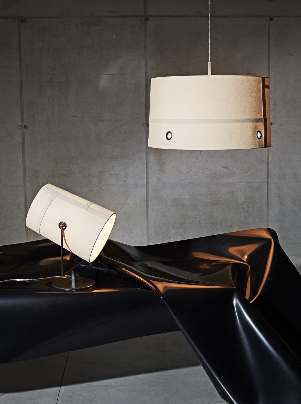 Table lamp Fork Maxi / H 44 cm Brown | Grey Diesel with Foscarini Diesel Creative Team 2