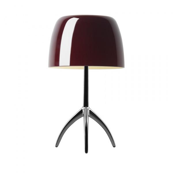 Candeeiro de mesa Lumiere TL L Cromo escuro | cereja Foscarini Rodolfo Dordoni 1