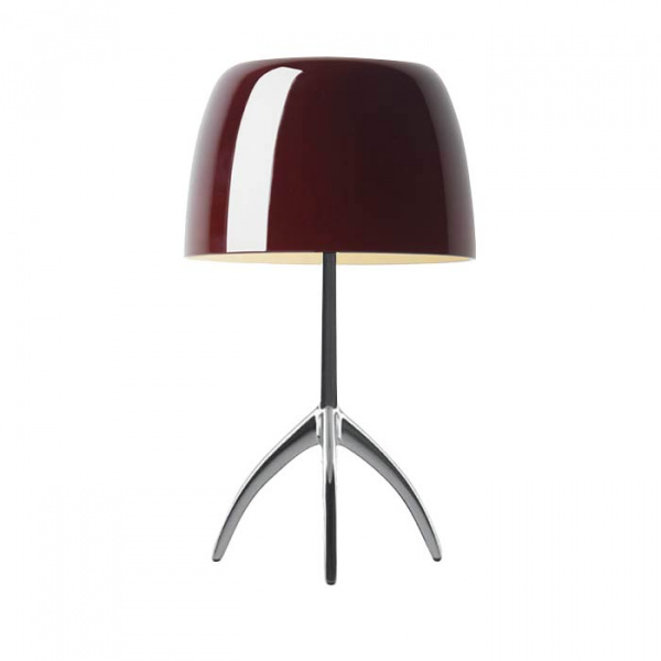 Table lamp Lumiere TL S DIM Aluminum | cherry Foscarini Rodolfo Dordoni 1