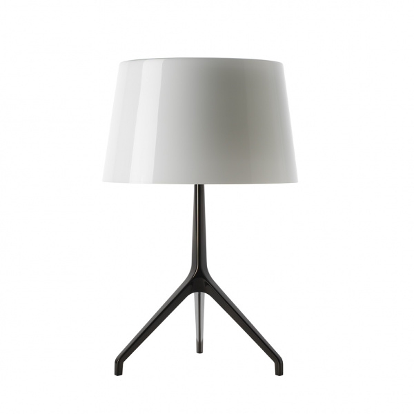 Lumiere TL XXS table lamp Dark chrome | white Foscarini Rodolfo Dordoni 1