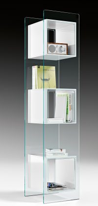 Magique White Totem Bookcase | Transparent FIAM Studio Klass