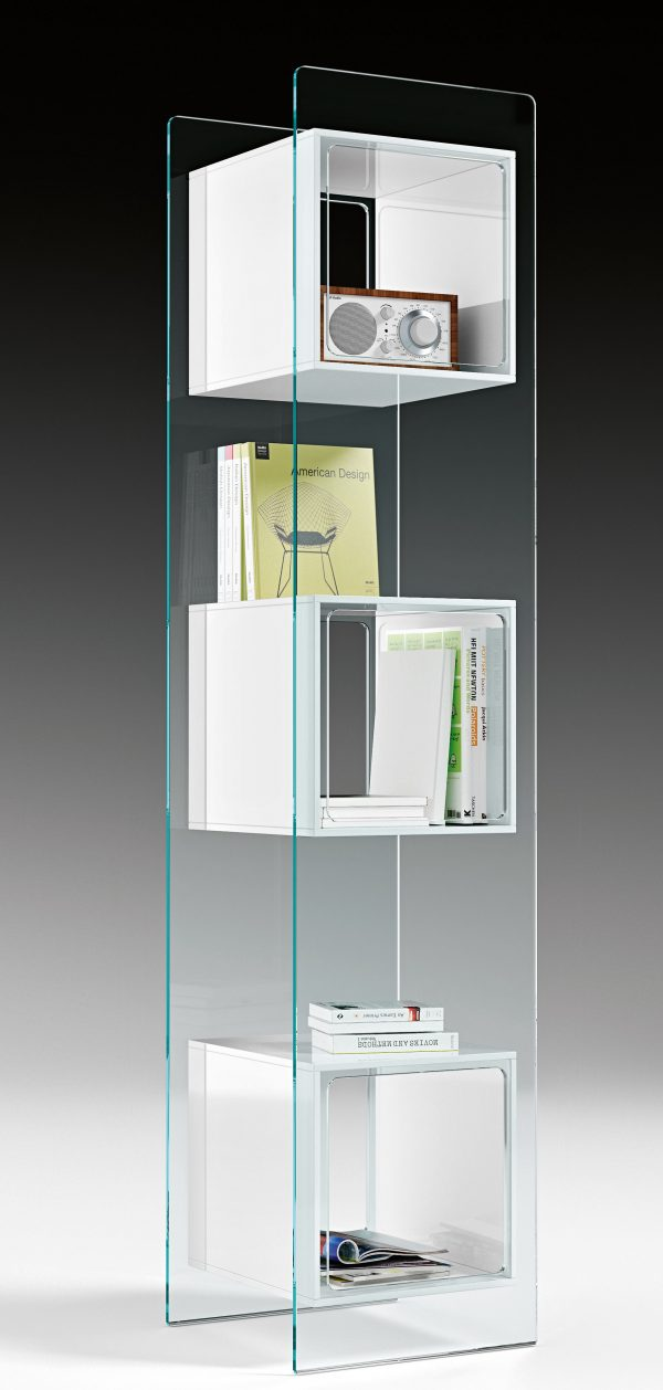 Magique White Totem Bücherregal | Transparent FIAM Studio Klass