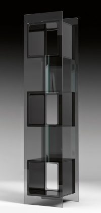 Magique Black Totem Bookcase | Transparent FIAM Studio Klass