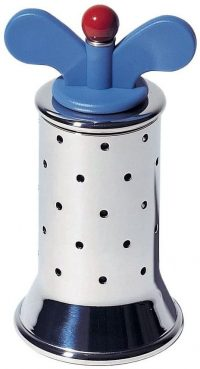 Polished stainless steel pepper mill 9098 1 Alessi Michael Graves