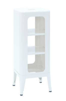 Mobile High stool H 75 cm White Tolix Frédéric GAUNET 1