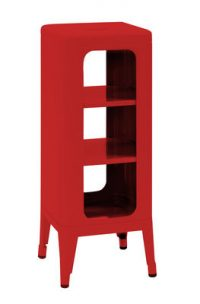 Mobile High stool H 75 cm Red Tolix Frédéric GAUNET 1