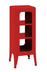Mobile Sgabello alto H 75 cm Rosso Tolix Frédéric Gaunet 1